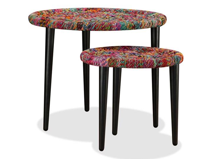 vidaXL Zestaw 2 stolików kawowych z detalami w stylu chindi, wielokolorowy Zestaw stolików Styl Vintage Stal Kategoria Stoliki i ławy