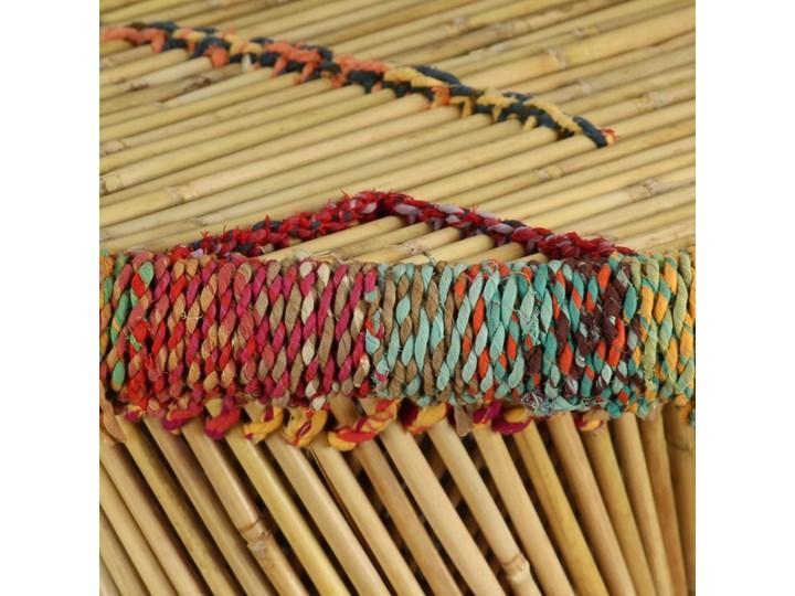 vidaXL Stolik kawowy z detalami w stylu chindi, bambus, wielokolorowy Metal Stal Kształt blatu Okrągłe Wysokość 45 cm Kategoria Stoliki i ławy