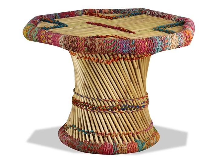 vidaXL Stolik kawowy z detalami w stylu chindi, bambus, wielokolorowy Stal Kategoria Stoliki i ławy Metal Wysokość 45 cm Styl Awangardowy