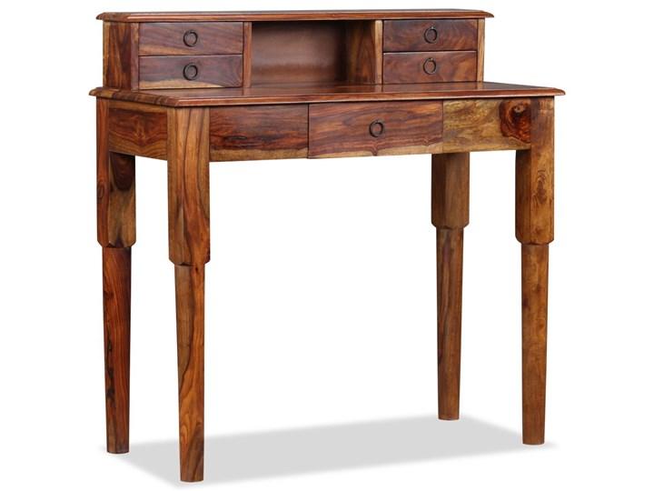 vidaXL Biurko z 5 szufladami, lite drewno sheesham, 90 x 40 x 90 cm Głębokość 40 cm Kolor Brązowy Sekretarzyk Pomieszczenie Biuro