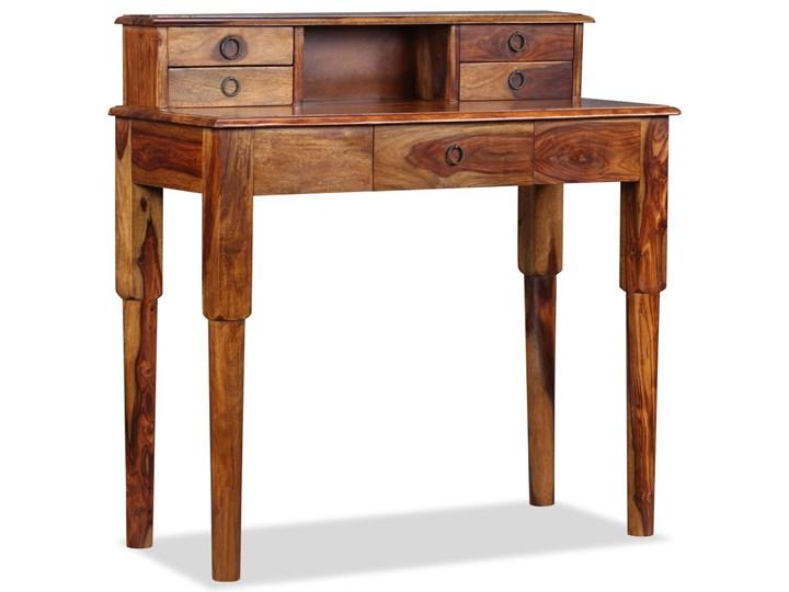 vidaXL Biurko z 5 szufladami, lite drewno sheesham, 90 x 40 x 90 cm Sekretarzyk Głębokość 40 cm Pomieszczenie Biuro Kolor Brązowy