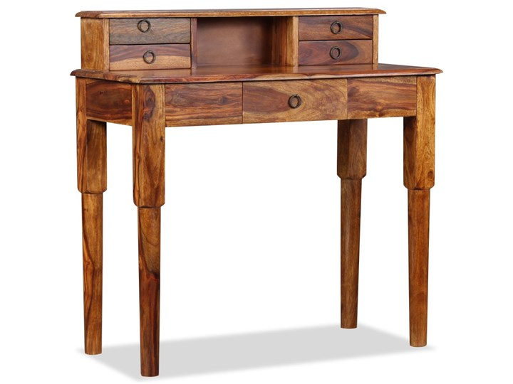 vidaXL Biurko z 5 szufladami, lite drewno sheesham, 90 x 40 x 90 cm Głębokość 40 cm Pomieszczenie Biuro Sekretarzyk Kategoria Biurka
