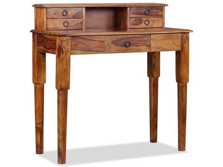 vidaXL Biurko z 5 szufladami, lite drewno sheesham, 90 x 40 x 90 cm Pomieszczenie Biuro Głębokość 40 cm Sekretarzyk Kategoria Biurka