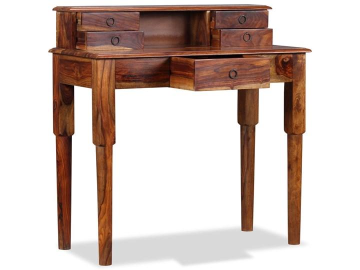 vidaXL Biurko z 5 szufladami, lite drewno sheesham, 90 x 40 x 90 cm Głębokość 40 cm Sekretarzyk Kategoria Biurka