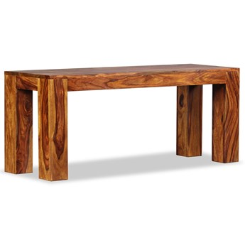 vidaXL Ława, lite drewno sheesham, 110 x 35 x 45 cm
