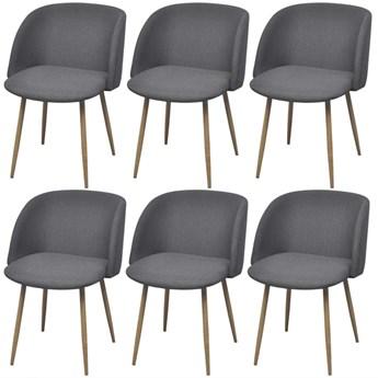 vidaXL Krzesła stołowe, 6 szt., ciemnoszare
