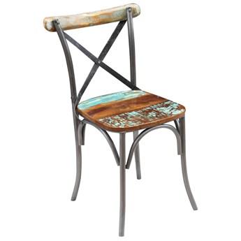 vidaXL Krzesła stołowe, 4 szt., lite drewno z odzysku