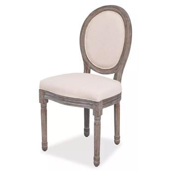 vidaXL Krzesła stołowe, 6 szt., kremowe, tkanina