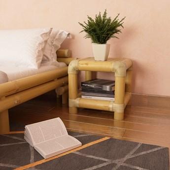 vidaXL Szafka nocna, 40 x 40 x 40 cm, bambus, kolor naturalny