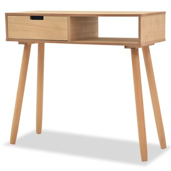 vidaXL Stolik typu konsola, drewno sosnowe, 80x30x72 cm, brązowy
