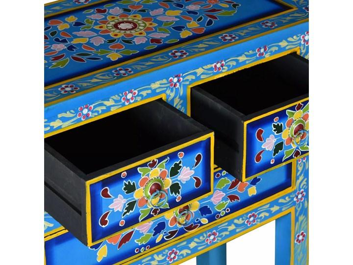 vidaXL Szafka z szufladami, drewno mango, turkusowa, ręcznie malowana Kategoria Szafki i regały