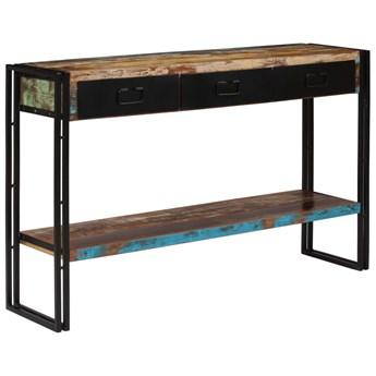 vidaXL Stolik konsola z litego drewna odzyskanego, 120 x 30 x 76 cm