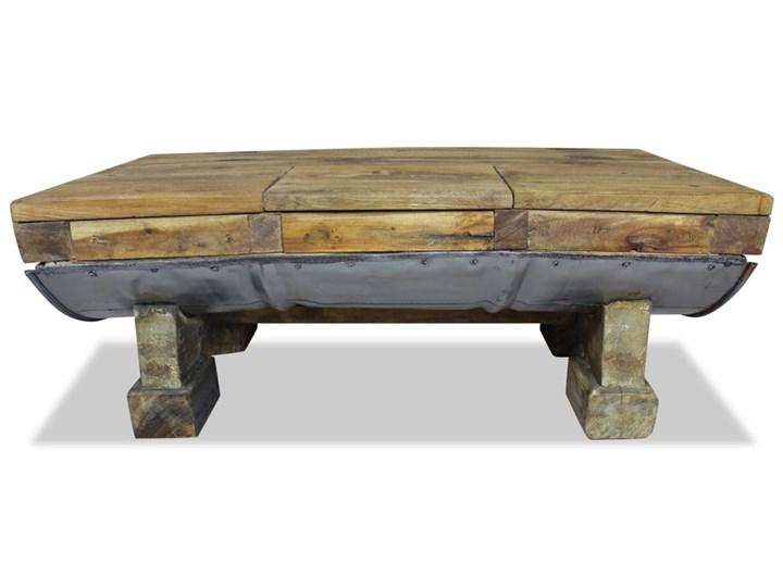 vidaXL Stolik kawowy z litego drewna z odzysku, 90x50x35 cm Drewno Metal Rozmiar blatu 50x90 cm
