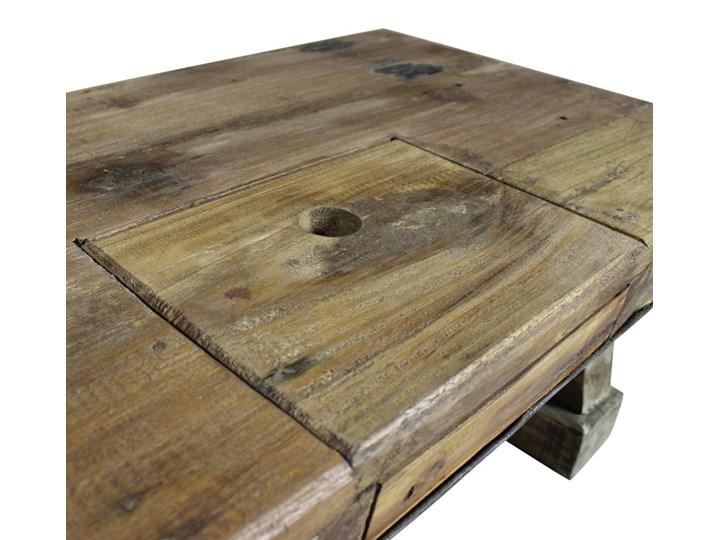 vidaXL Stolik kawowy z litego drewna z odzysku, 90x50x35 cm Metal Drewno Styl Vintage