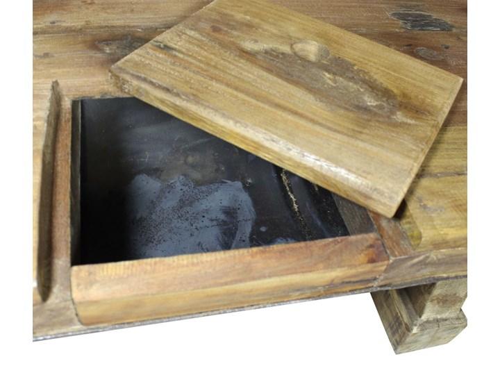 vidaXL Stolik kawowy z litego drewna z odzysku, 90x50x35 cm Drewno Metal Styl Rustykalny