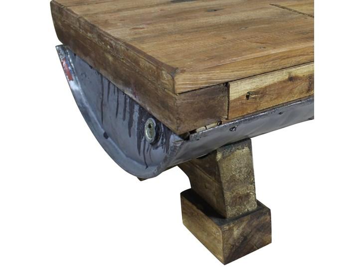 vidaXL Stolik kawowy z litego drewna z odzysku, 90x50x35 cm Metal Drewno Styl Rustykalny