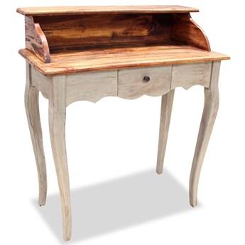 vidaXL Biurko, lite drewno z odzysku, 80 x 40 x 92 cm