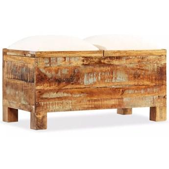 vidaXL Skrzynia z siedziskiem, lite drewno odzyskane, 80 x 40 x 40 cm