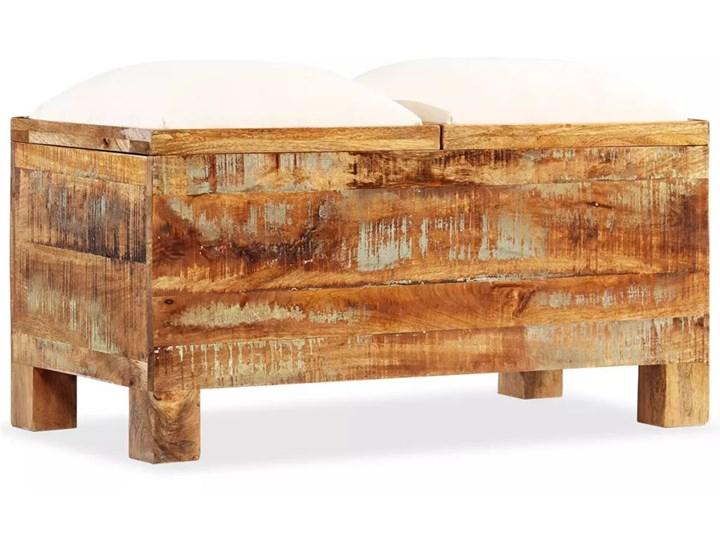 vidaXL Skrzynia z siedziskiem, lite drewno odzyskane, 80 x 40 x 40 cm Materiał obicia Tkanina Kategoria Ławki do salonu