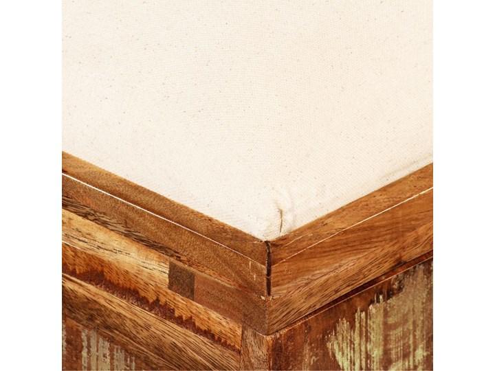 vidaXL Skrzynia z siedziskiem, lite drewno odzyskane, 80 x 40 x 40 cm Kategoria Ławki do salonu