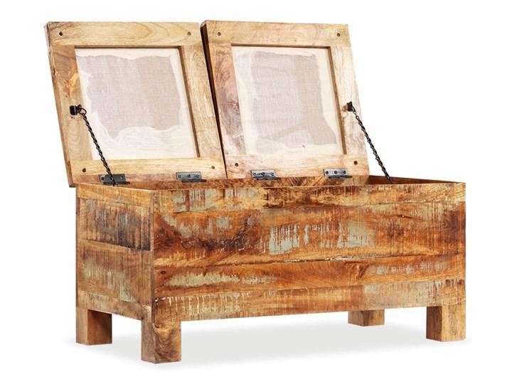 vidaXL Skrzynia z siedziskiem, lite drewno odzyskane, 80 x 40 x 40 cm Styl Vintage Materiał obicia Tkanina
