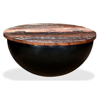 vidaXL Stolik kawowy z drewna odzyskanego, kształt misy