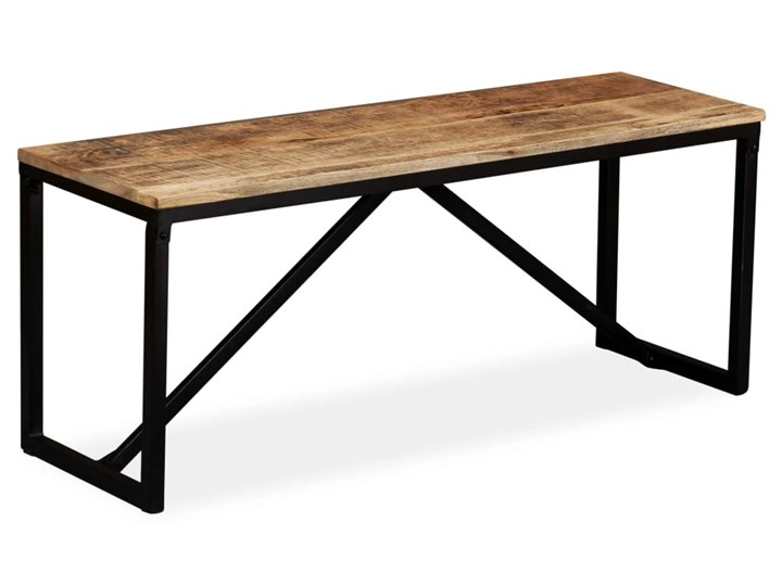 vidaXL Ławka z drewna mango, 110x35x45 cm Tradycyjna Kolor Czarny