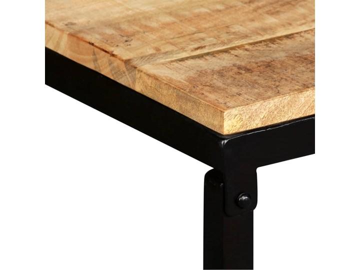 vidaXL Ławka z drewna mango, 110x35x45 cm Tradycyjna Materiał nóżek Drewno Kolor Czarny