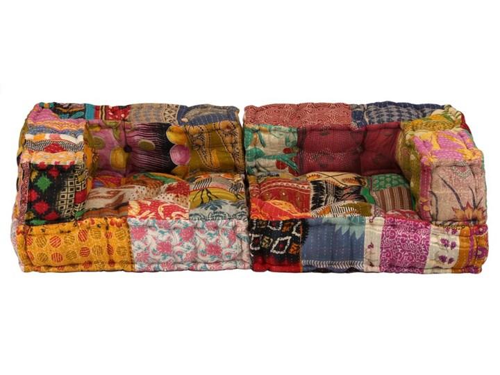 vidaXL Puf modułowy, 2-osobowy, patchwork, tkanina Modułowe Kategoria Sofy i kanapy Boki Z bokami