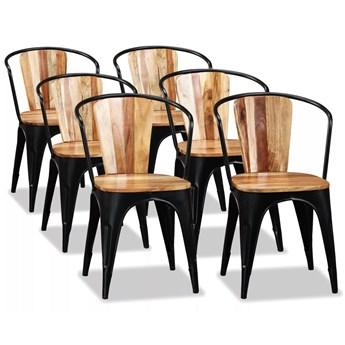 vidaXL Krzesła do jadalni, 6 szt., lite drewno akacjowe