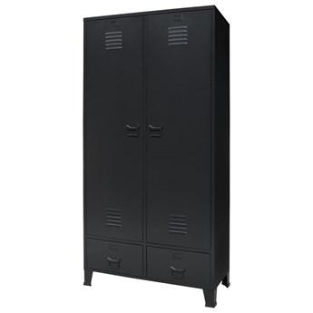 vidaXL Metalowa szafa w industrialnym stylu, 90 x 40 x 180 cm, czarna