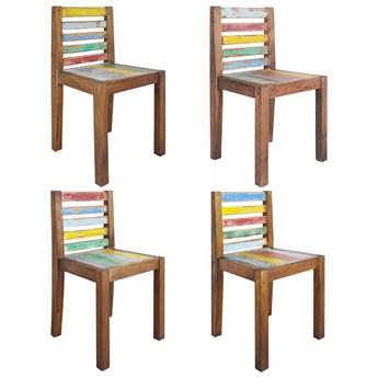 vidaXL Krzesła stołowe, 4 szt., lite drewno odzyskane z łodzi