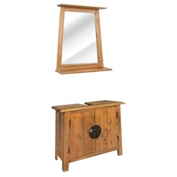 vidaXL Zestaw mebli do łazienki, lite drewno sosnowe z odzysku