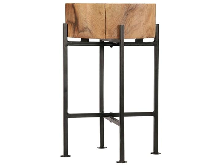 vidaXL Zestaw stolików bocznych, 2 szt., lite drewno akacjowe Wysokość 60 cm Wysokość 45 cm Stal Styl Industrialny