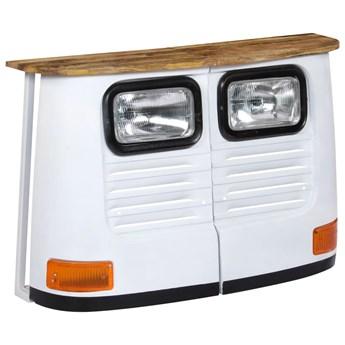 vidaXL Szafka inspirowana ciężarówką, lite drewno mango, biała