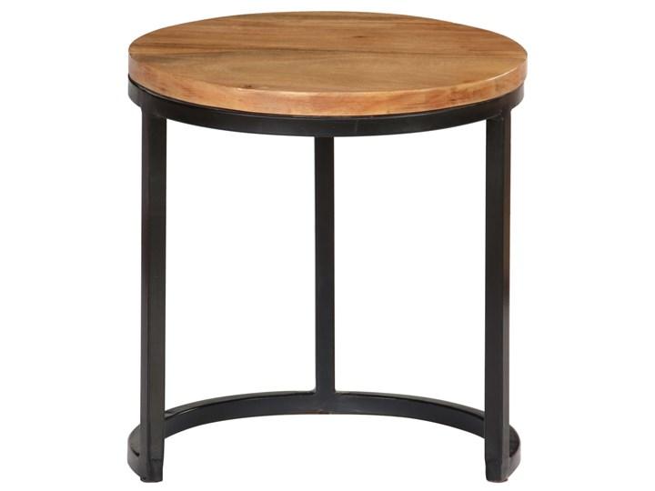 vidaXL Zestaw 3 stolików kawowych, akacja stylizowana na sheesham Stal Wysokość 41 cm Zestaw stolików Drewno Wysokość 31 cm Kategoria Stoliki i ławy Wysokość 52 cm Rodzaj nóg Gięte