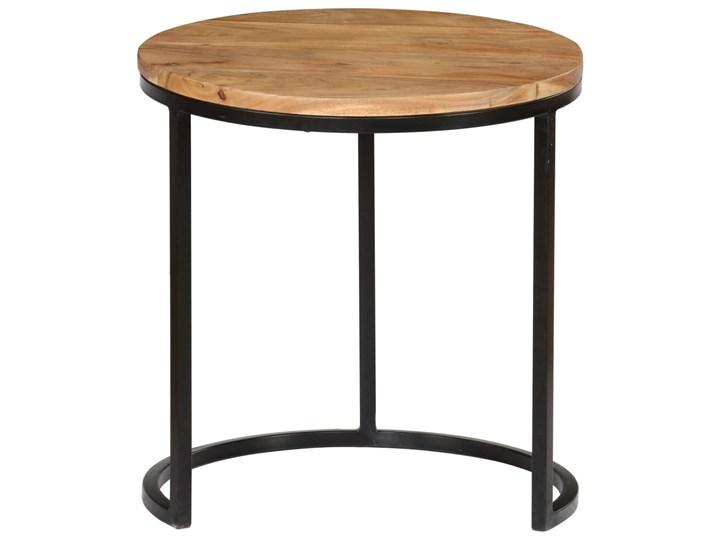 vidaXL Zestaw 3 stolików kawowych, akacja stylizowana na sheesham Wysokość 52 cm Drewno Wysokość 41 cm Wysokość 31 cm Stal Zestaw stolików Styl Industrialny