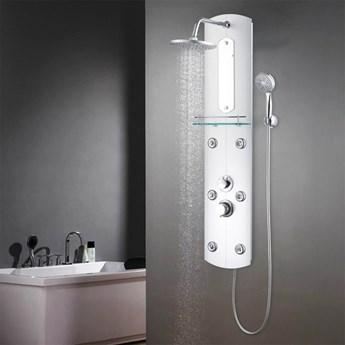 vidaXL Panel prysznicowy, 25 x 43 x 120 cm, srebrny