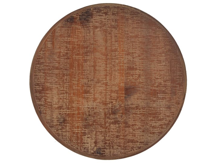 vidaXL Stolik z litego drewno jodłowego, 40 x 64 cm, brązowy Stal Rodzaj nóg Gięte Kategoria Stoliki i ławy