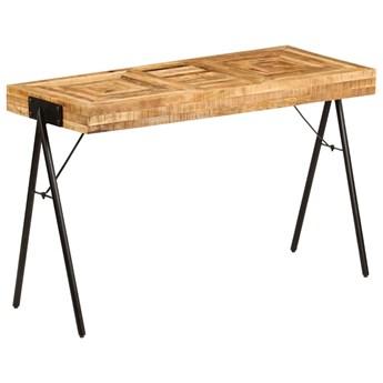 vidaXL Biurko z litego drewna mango, 118 x 50 x 75 cm