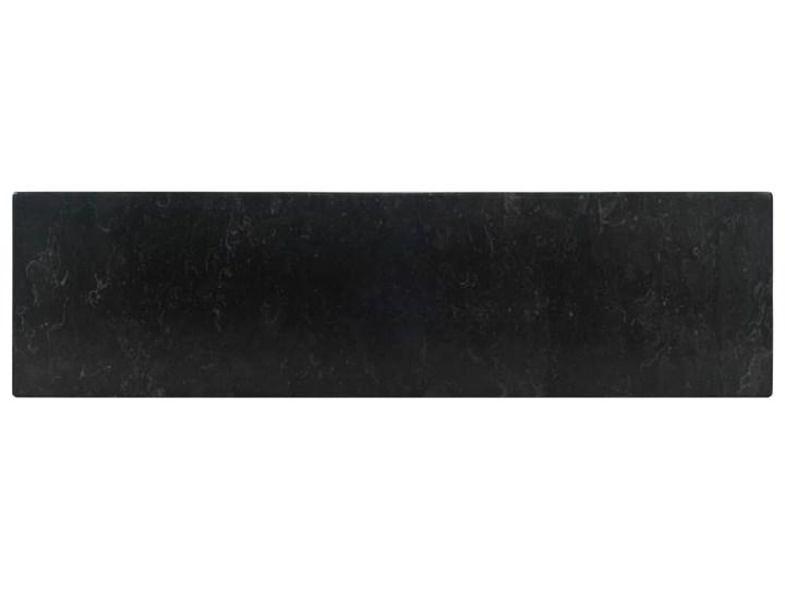 vidaXL Umywalka, 45 x 30 x 12 cm, marmurowa, czarna Kolor Czarny Szerokość 45 cm Kamień naturalny Kategoria Umywalki