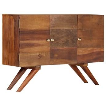 vidaXL Szafka z litego drewna odzyskanego, brązowa, 110 x 30 x 75 cm