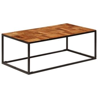 vidaXL Stolik kawowy z drewna akacjowego i stali, 110x60x40 cm