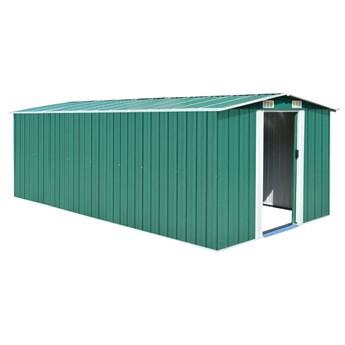 vidaXL Szopa ogrodowa, 257x489x181 cm, metal, zielona