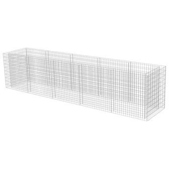 vidaXL Podwyższona donica gabionowa, galwanizowana stal, 450x90x100 cm