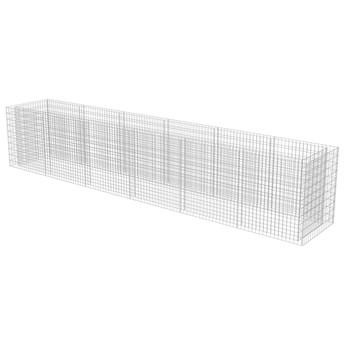 vidaXL Podwyższona donica gabionowa, galwanizowana stal, 540x90x100 cm