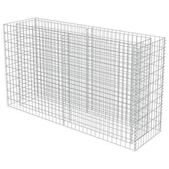 vidaXL Podwyższona donica gabionowa, galwanizowana stal, 180x50x100 cm