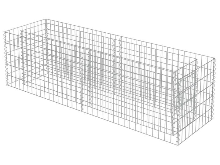 vidaXL Podwyższona donica gabionowa, galwanizowana stal, 180x50x50 cm Kategoria Donice ogrodowe Donica ogrodowa Kamień Metal Kolor Szary