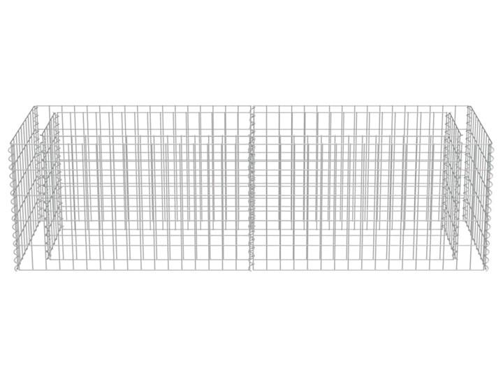 vidaXL Podwyższona donica gabionowa, galwanizowana stal, 180x50x50 cm Kamień Metal Donica ogrodowa Kolor Czarny Kategoria Donice ogrodowe