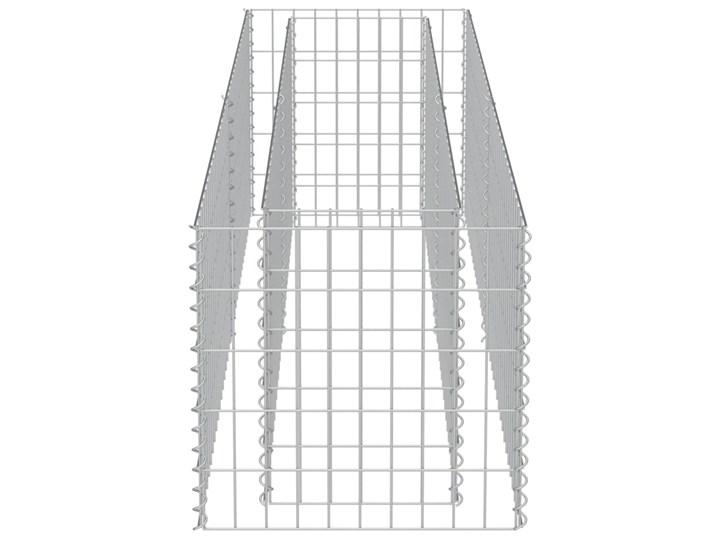 vidaXL Podwyższona donica gabionowa, galwanizowana stal, 180x50x50 cm Donica ogrodowa Kamień Metal Kategoria Donice ogrodowe Kolor Czarny